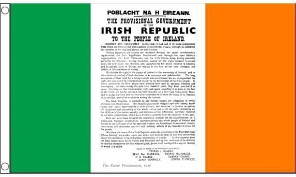 Easter Rising Proclamation Flag